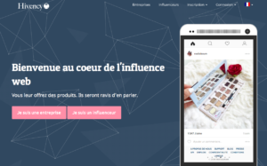 hivency screenshot influenceur
