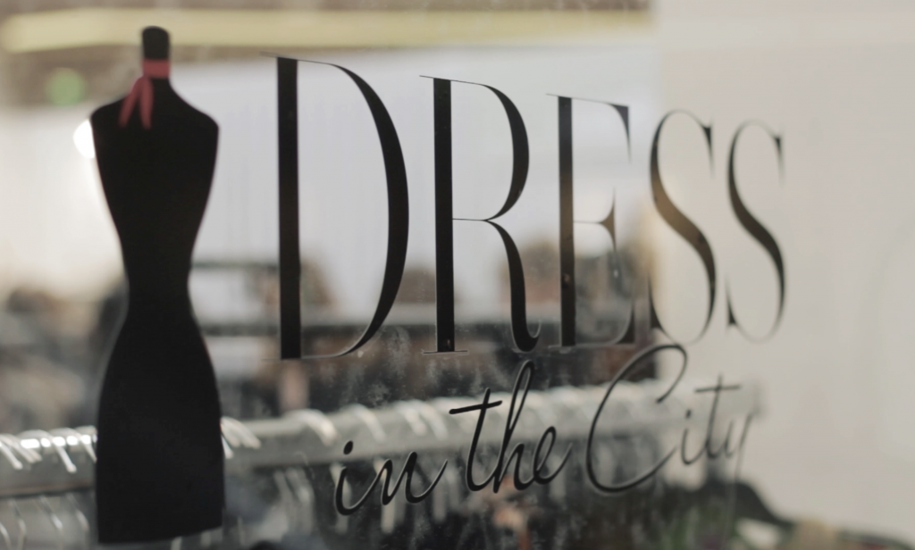Dress in the city pop up store