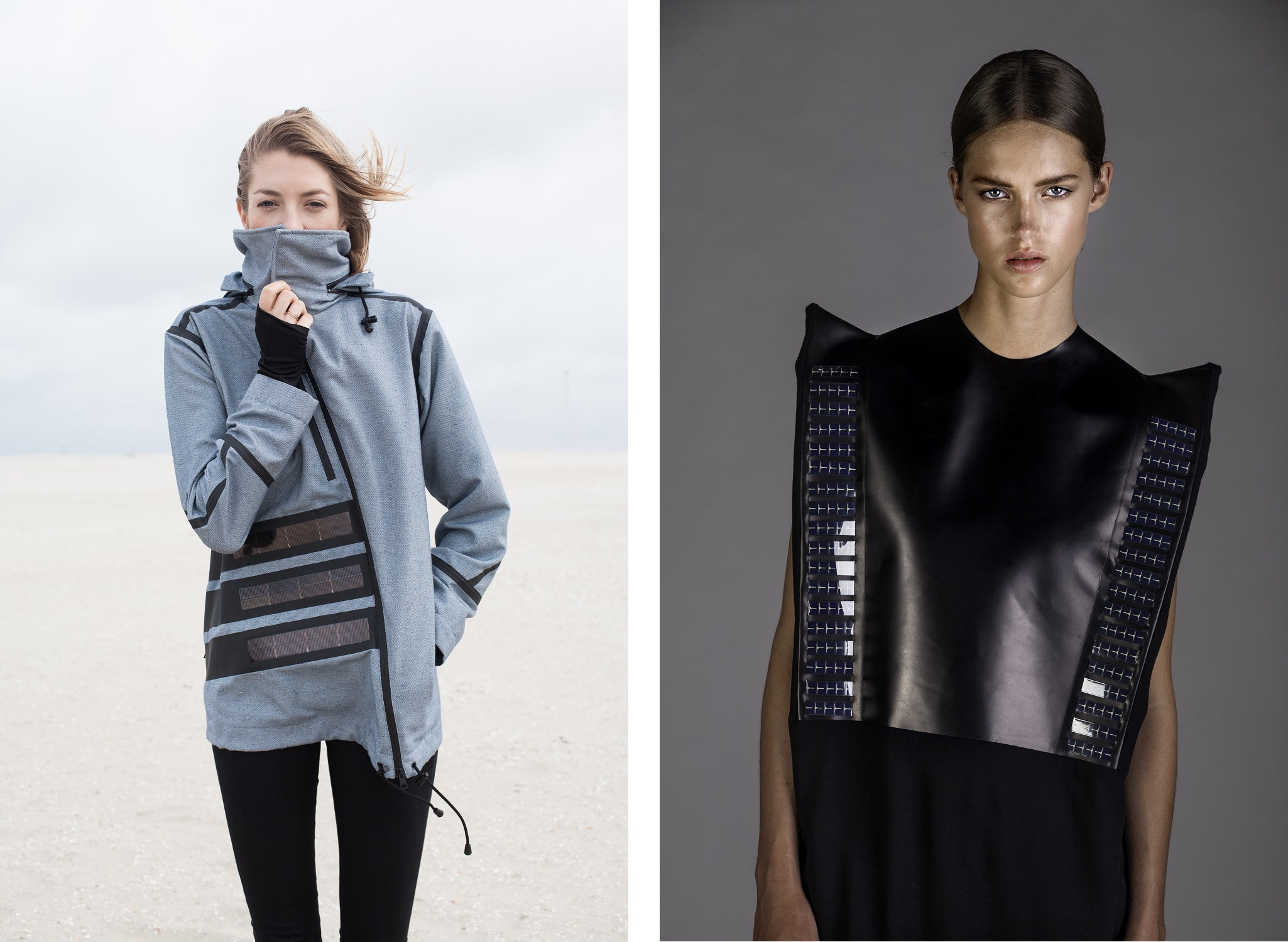 Solar Dress & Windbreaker par Pauline Van Dogen